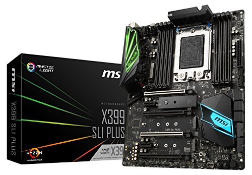 MSI X399 SLI Plus Scheda Madre, Nero