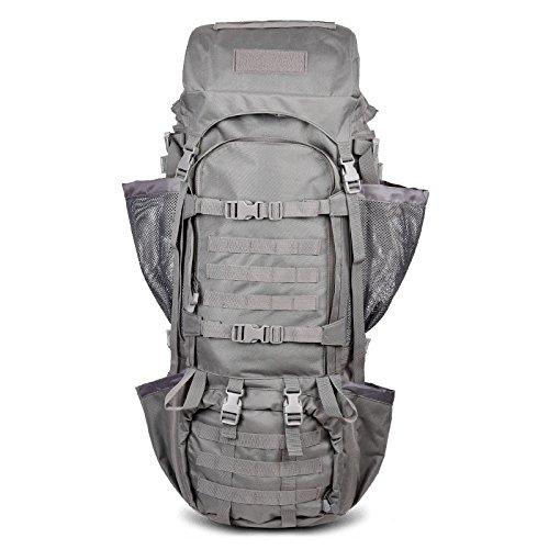 Alpinismo borse per gli uomini e le donne di spalla viaggio zaino doppia spalla borse outdoor oversize mountain borse da viaggio grande zaino capacità 125L 95*31*30cm, bianco latte Nero