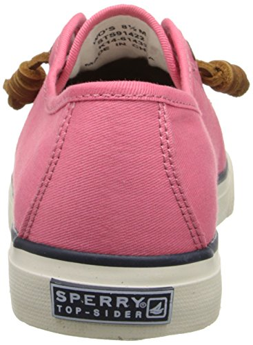 Sperry Top-Sider Women's Seacoast Canvas Fashion Sneaker, Coral, 7 M US Coral