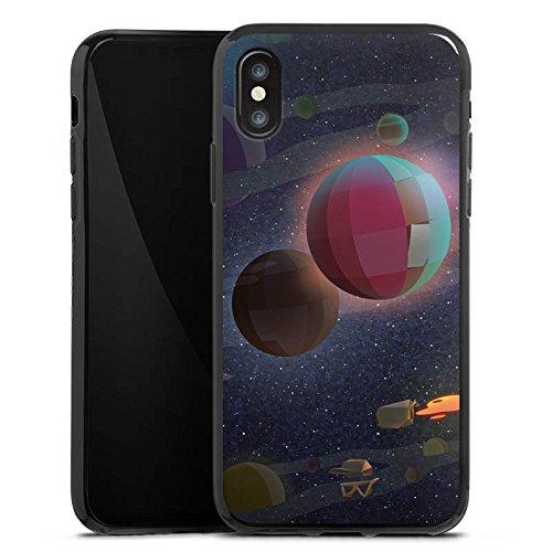Apple iPhone X Silikon Hülle Case Schutzhülle Rocket Beans TV Bohnen Weltraum Silikon Case schwarz