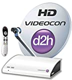 Videocon D2H HD Digital Set Top Box with 12 months New Gold Sports Pack with HD Access