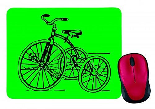 "Preisvergleich Produktbild Mauspad ""DREIRAD- JAHRGANG- RETRO- SPIELZEUG- KINDHEIT- ZYKLUS- ANTIK- TRIKE- NOSTALGIE- FAHRT"" in Grün | Mousepad - Mausmatte - Computer Pad - Mauspad mit Motiv"