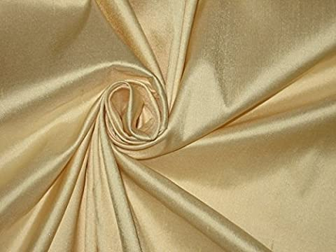 Seide Dupionseide Stoff Golden creme Farbe 137,2cm dup181[1] by the Yard