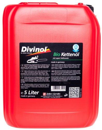 DIVINOL 5 Liter Bio Kettenöl - BLAUER ENGEL - Mit super Haftzusatz - 5l Inhalt / Made in Germany - Besonders umweltfreundlich
