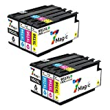 7Magic 950XL 951XL cartuccia d'inchiostro Compatibile per HP 950XL 951XL Compatible per HP OfficeJet Pro 8600 Plus 8610 8620 8615 276DW 8100 8625 8630 8640 8660 251DW (2 Noir/2 Cyan/2 Magenta/2 Jaune)