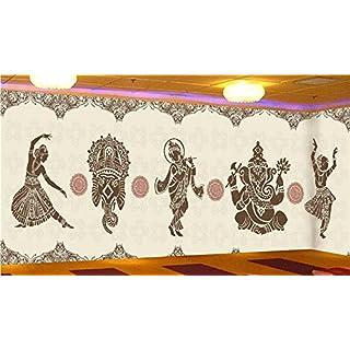 Vlies Tapete Wandbilder The Thai Yoga Room Wall Murals Of Southeast Asia Style Indian Dance Wallpaper Bar Ktv Commercial Wallpaper