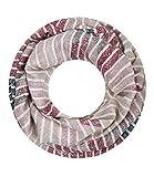 Majea Damen Loop Schal viele Farben tolle Muster Schlauchschal Halstücher (weinrot 11)