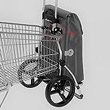 Sondermodell Andersen Einkaufstrolley Royal XXL & Einkaufstasche Toto grau mit Kühlfach | Einkaufswagen mit großen Rädern | Trolley aus Aluminium klappbar - 6
