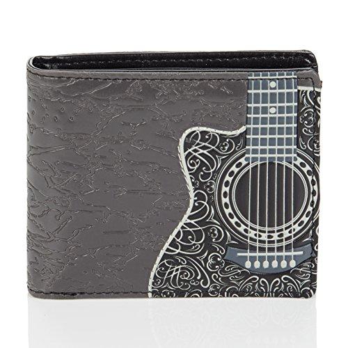 Shagwear Herren Geldbörse , Mens Wallet: Verschiedene Farben und Designs: (Guitar)