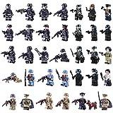 Spieland Mini Figuren Minifiguren Set - 34 Stück SWAT Armee Polizei Minifiguren Spielzeug Geschenk Pädagogisches Kinder