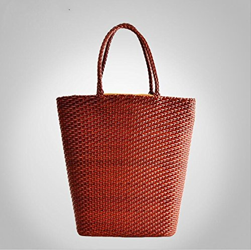 DJB/Tasche Leder Woven Taschen groß Leder Damen Tasche Braun