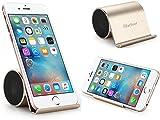 iHarbort® mini beweglicher nachladbarer Bluetooth Lautsprecher mit Bass und Handy-Halter stand für Tablet / Handy- Gold