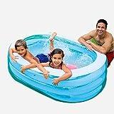 STS SUPPLIES LTD Planschbecken Klein Baby Swimming Pool Spielzeug Aufblasbar Babypool Kinderpool Blau Garten Balkon Oval Schwimmbecken &E Book