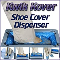 Easy Use Kwik Kover Disposable Shoe Cover Overshoe Dispenser with 50 FREE Disposable Shoe Covers for the Home, Hygiene Areas, Boats, Yachts, Food Production, Crime Scenes, Show Homes. So Easy to Use they will be Used