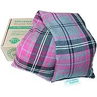 Amazing Health Pink Tartan Luxury Unscented Microwave Cotton Wheat Bag