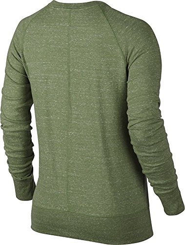 Nike W Nsw Gym Vntg Crew Damen-Langarmshirt PALM GREEN/SAIL