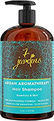7 Jardins Argan Natural Aromatherapy Shampoo - 16 Oz - Best Moisturizing, Volumizing And Nourishing Shampoo For Damaged & Dry Hair With Therapeutic Essential Oils For Men And Women