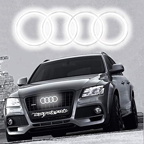Motorfox Ringe LED Kuhlegril Emblem Leuchtende Ringe Logo Tagfahrlicht A6 A7 Q2 Q3 Q5 Q7