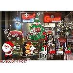 Ouken Partito Forniture Natale elettrostatica Adesivi Finestra Adesivi di Natale Tree Wall Adesivi Decorazioni Natalizie (Babbo Natale Cervo e Orso)