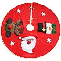 Binen 100cm Decorazioni natalizie Albero di Natale Gonna Base Cover Decorazione albero di Natale
