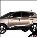 Hyundai iX35 ab 2010 Fensterleisten 6 tlg aus Edelstahl Chrom
