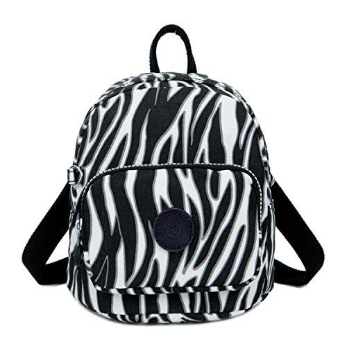 FZHLY Nuovo Nylon Diagonale Pacchetto Multi-funzionale Sacchetto Di Nylon A Tracolla,Blackflower zebra