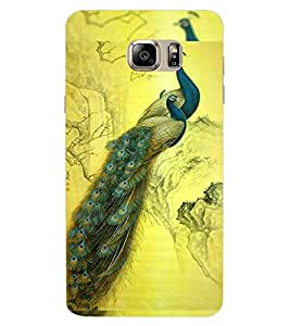 ColourCraft Beautiful Peacocks Design Back Case Cover for SAMSUNG GALAXY NOTE 7