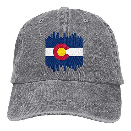 o State Flag City Denim Hat Adjustable Mens Plain Baseball Caps ()