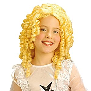 WIDMANN Blonde Curly Angel Wig - Kids Nativity Costuume Accessory (peluca)