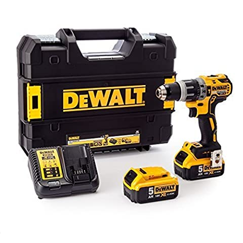 Dewalt DCD796P2-GB 18 V XR Brushless Compact Combi Drill with 2 x 5 A Lithium-Ion Batteries by DEWALT