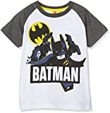 LEGO BATMAN T-Shirt Garçon, Blanc/gris8 ans (Taille fabricant: 8 ans)