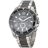 August Steiner Bracelet Men's Black Dial Stainless Steel Band Watch - AS8119TTB