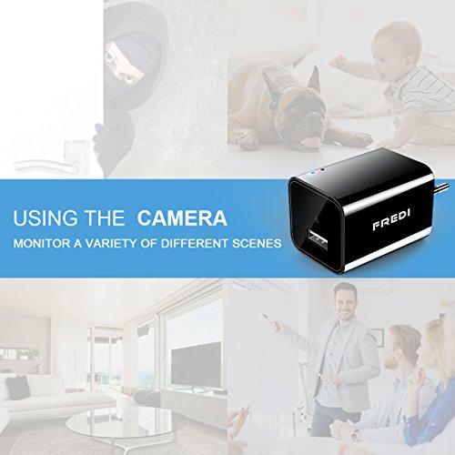 FREDI Mini WiFi Cámara Espía/Oculta/HD 1080p /Admite Tarjeta de 128G(no Incluye) Detección de Movimiento Cámara vigilancia Camara IP