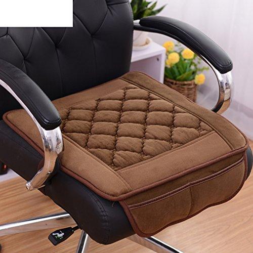 KFIENKSGNDKJF Deux Poche Coussin de siège Peluche Confortable Tissus élastique Socket Anti-dérapant Noir-A 55x55cm(22x22inch)