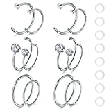 Best body jewelry Fake Diamonds - Zolure Fake Nose Piercings Nose Hoop Rings 20 Review