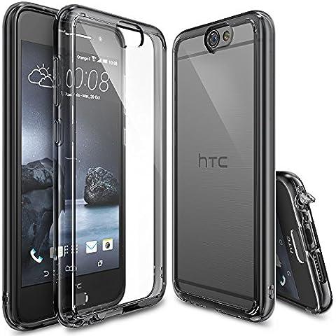 Funda HTC One A9, Ringke FUSION [SMOKE BLACK] Choque Absorción Funda de parachoques y Protección gota [GRATIS Protector de pantalla] Prima Clear Back duro para HTC One