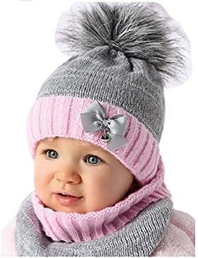 AJS Baby Winter Mütze Mädchen Lopp Wintermütze 44/46