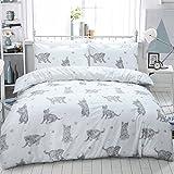 Luxury Animal Print Design Duvet Set Quilt Cover Bedding Single Double King Size[Cat Grey,King Size]