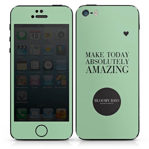 Apple iPhone 5s Case Skin Sticker aus Vinyl-Folie Aufkleber Blumen Liebe Herz Sprüche DesignSkins® glänzend