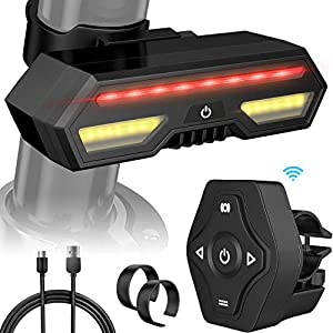 MojiDecor - Luz Trasera para Bicicleta (USB, Resistente al Agua)