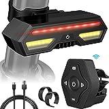 MojiDecor - Fanale Posteriore per Bicicletta, Impermeabile, con Ricarica USB, a LED, indicatore di direzione per Mountain Bike e Auto