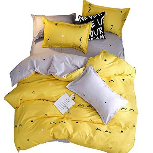 mit Wimpern, 4-teilig, Gelb, gelb ()