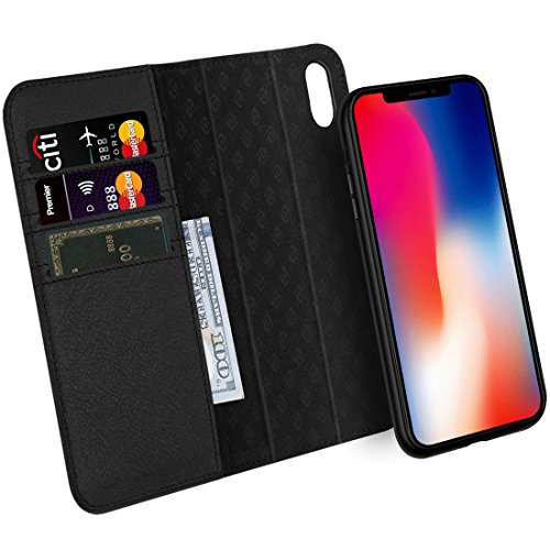 ZOVER Cover iPhone XS, Custodia iPhone X, Cover in Pelle Portafoglio Con la...