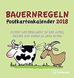 Bauernregeln 2018 - Postkartenkalender, Terminkalender, Broschürenkalender  -  16 x 17 cm