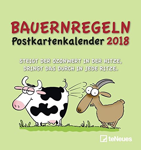 Bauernregeln 2018 - Postkartenkalender, Terminkalender, Broschürenkalender - 16 x 17 (Lustige Satire Ideen)