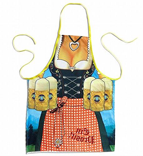 Widmann - Schürze für Damen (Lustige Ideen Halloween-kostüm Frauen)