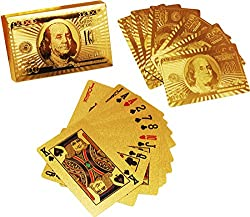 Accedre 24 K Gold Plated Poker Playing Cards (Golden)