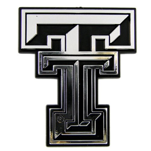 Caseys Distributing 8162007122 Texas Tech Red Raiders Silver auto Emblem