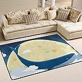 yibaihe Traumhafte Starry Night Wal Design Schöne Einrichtung Bereich Teppich Teppich Fußmatte für Hartholz Böden Wohnzimmer Schlafzimmer wasserabweisend, 183 x 122 cm