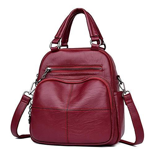 Myzixuan Mode Frau Rucksack Leder Marken weiblichen Rucksäcke hohe Qualität Schultasche Rucksack elegant